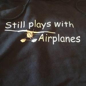 "NWT ""still plays with airplanes"" hoodie"